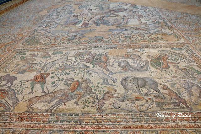 Oecus de la Villa romana de la Olmeda, Palencia