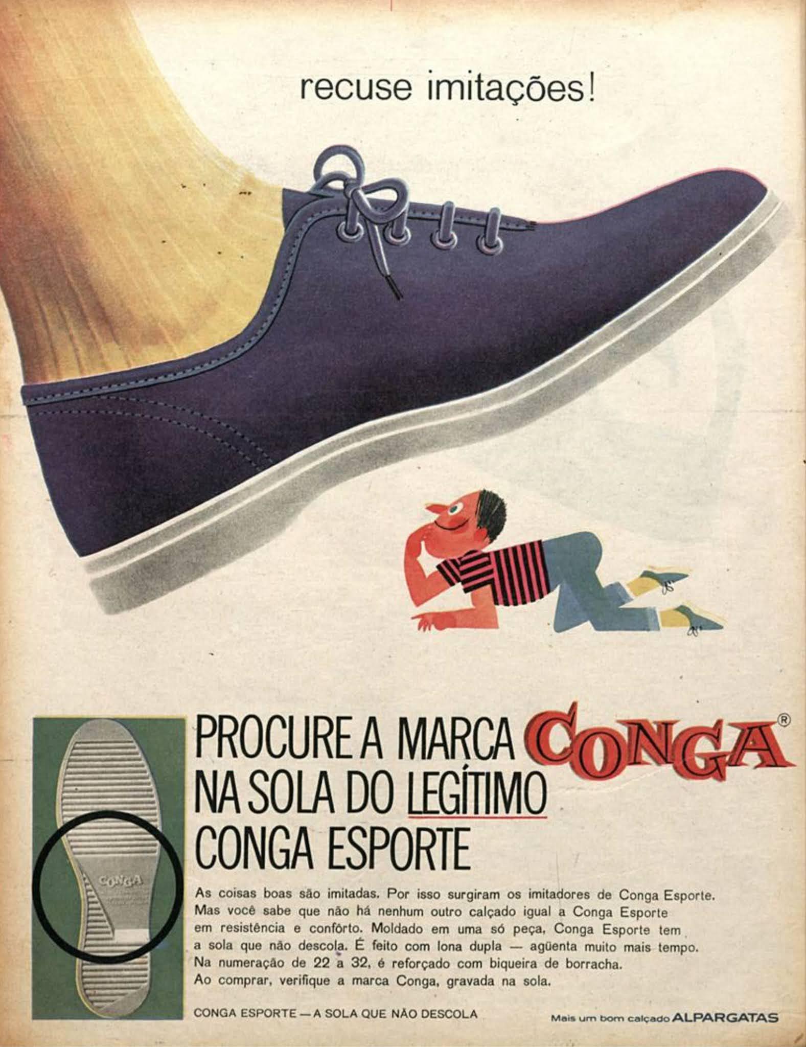 Propaganda do Tênis Conga Esporte veiculada em 1964