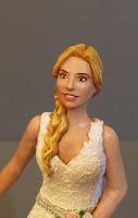 cake topper sposa bionda statuina personalizzata torta nuziale orme magiche