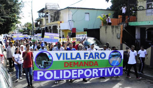 Villa Faro Marcha Por Construcción De Un Polideportivo