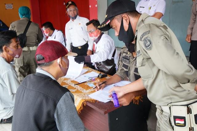 Satpol PP Jabar Gelar Opsgab Yustisi Prokes di Jatibarang Kabupaten Indramayu