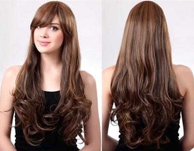 gaya rambut keriting gantung terbaru