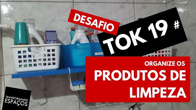 Tok 19 - Organize os produtos de limpeza | Desafio 52 toks de organização e decor