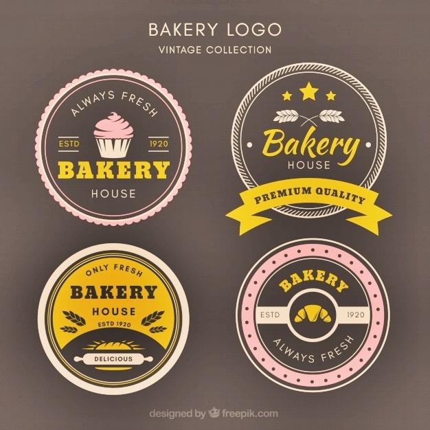 Template keren logo bakery