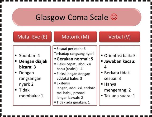 Format penilaian GCS (Glasgow Coma Scale)
