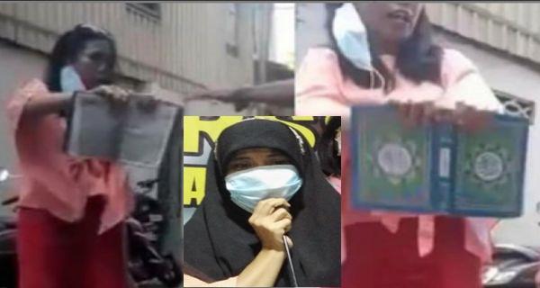 Wanita Pelempar Al-Qur'an Minta Maaf: Saya Tak Niat Hina Umat Islam
