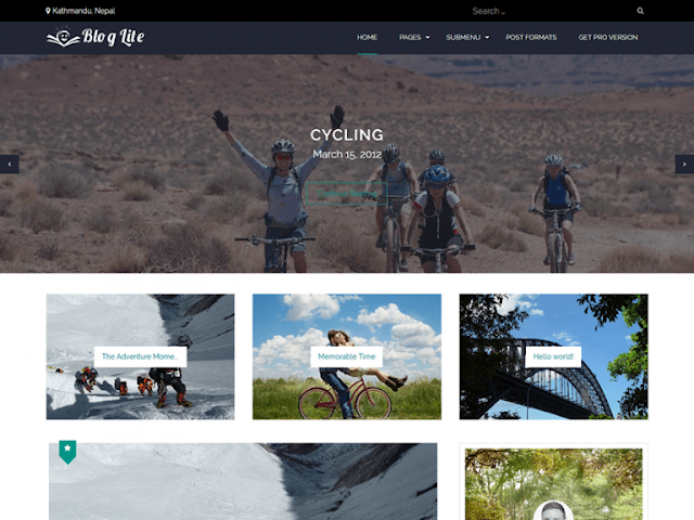 Blog Lite Wordpress Teması