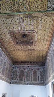 Artesonado del piso superior de la kasbah Taourirt