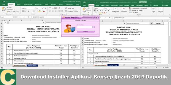 Download Installer Aplikasi Konsep Ijazah 2020 Dapodik