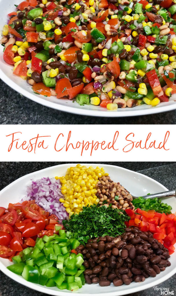 This fresh, delicious, and super healthy salad (or is it salsa?) works as a light lunch, side dish, appetizer, or snack anytime. Make this on the weekend and eat on it throughout the week. Eat on its own or scoop it with tortilla chips or crackers.