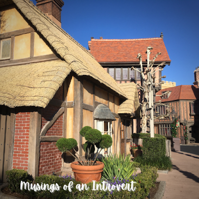 One of the side streets located in Epcot's UK