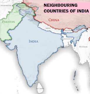 NEIGHBOURING COUNTRIES OF INDIA, INDIAN GEOGRAPHY, BASIC INDIA