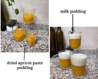 Milk and Apricot Fruit Leather Pudding
