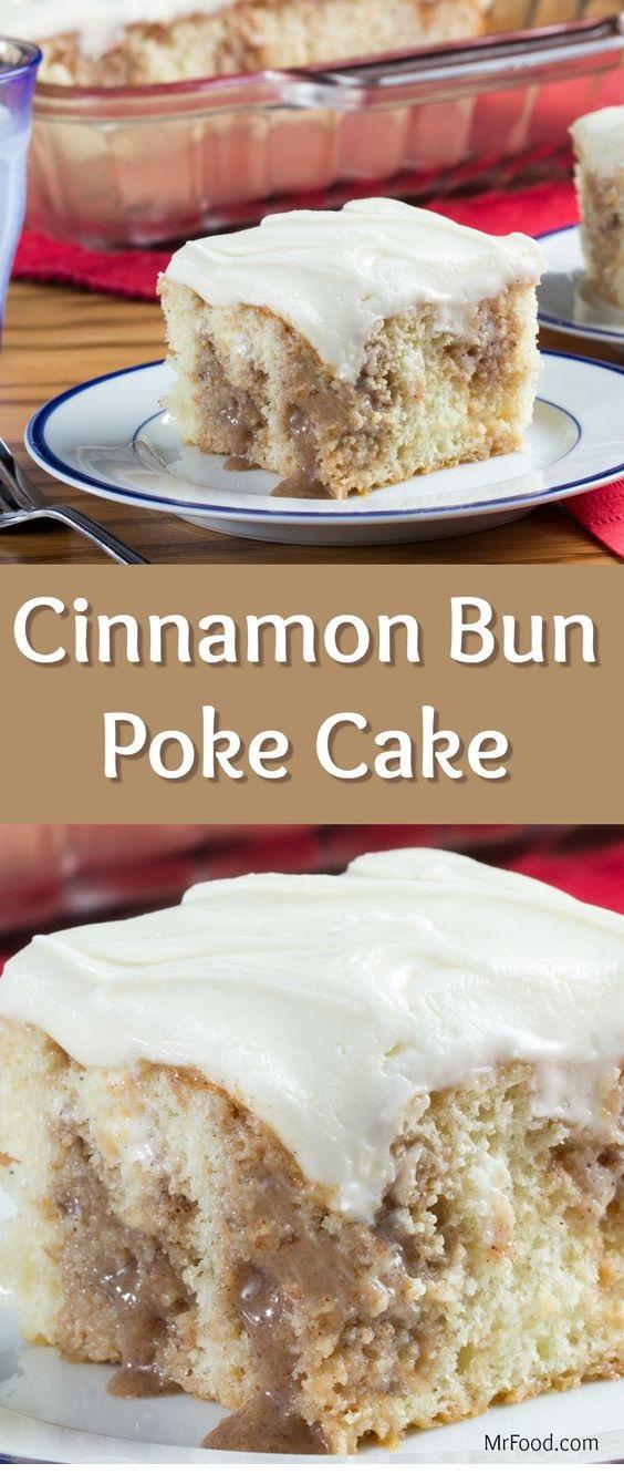Cinnamon Bun Poke Cake