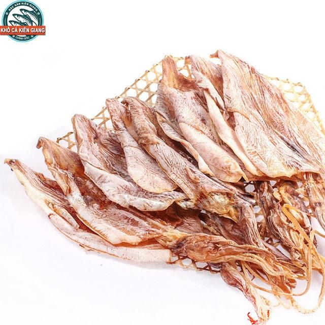 Khô Mực Câu Phú Quốc Loại 1 có trọng lượng từ 8-11 con/ kg