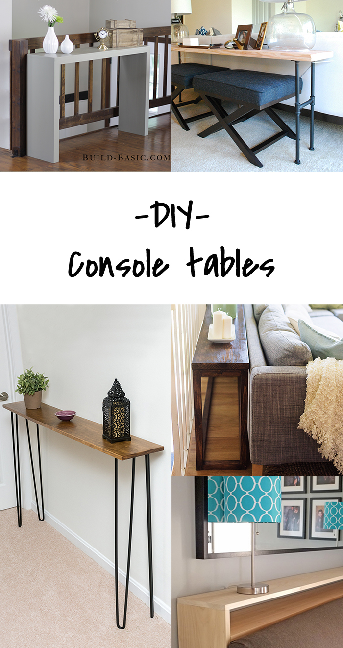 5 DIY to Try # Console tables