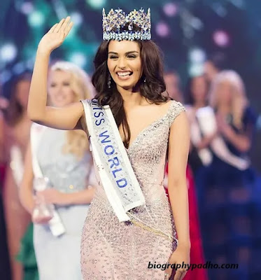 Manushi Chhillar Miss World Wining Time Photo