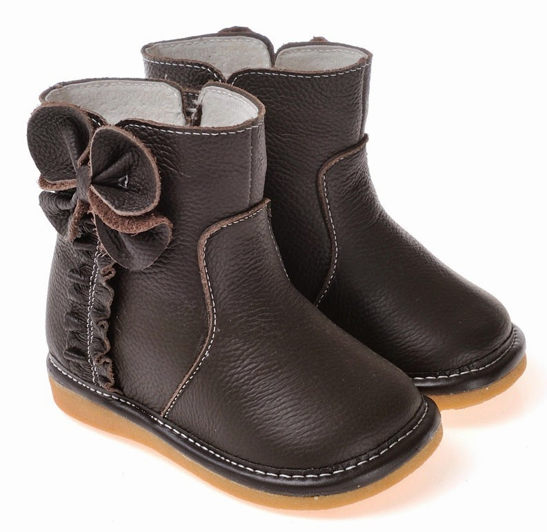Caroch Minnie Chocolate Girls Boots by Tiptoe & Co