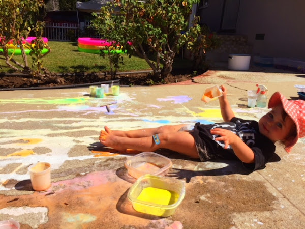 Exploding Chalk Art
