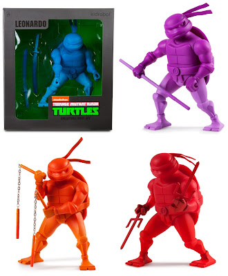 Teenage Mutant Ninja Turtles Stylized Monochromatic Vinyl Figures by Kidrobot