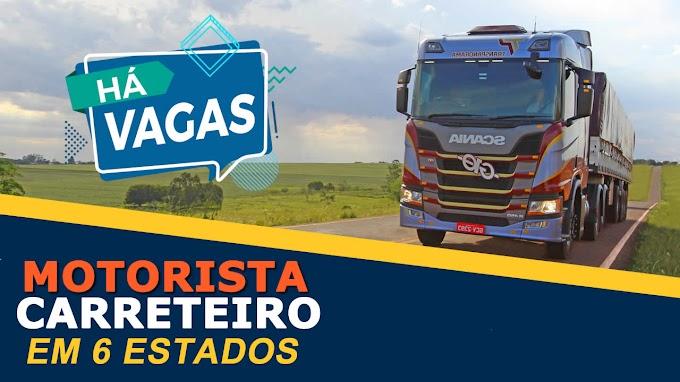 TRANSPANORAMA ABRE VAGAS PARA MOTORISTA EM 6 ESTADOS