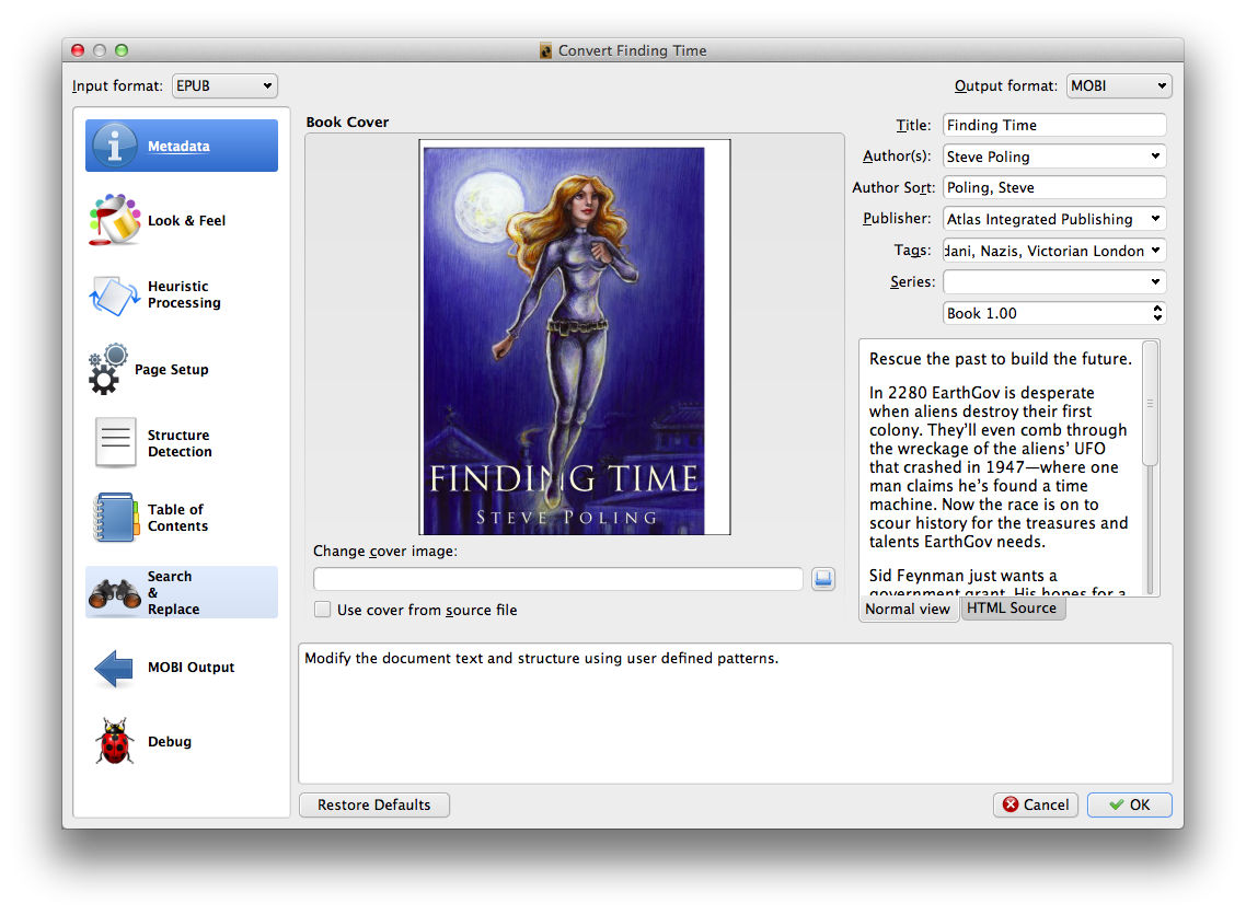 The Archives of The Diogenes Club: Convert ePub to Mobi