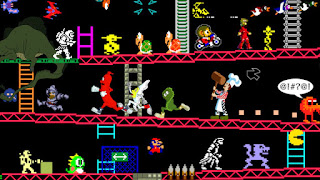 Retro gaming Donkey Kong characters