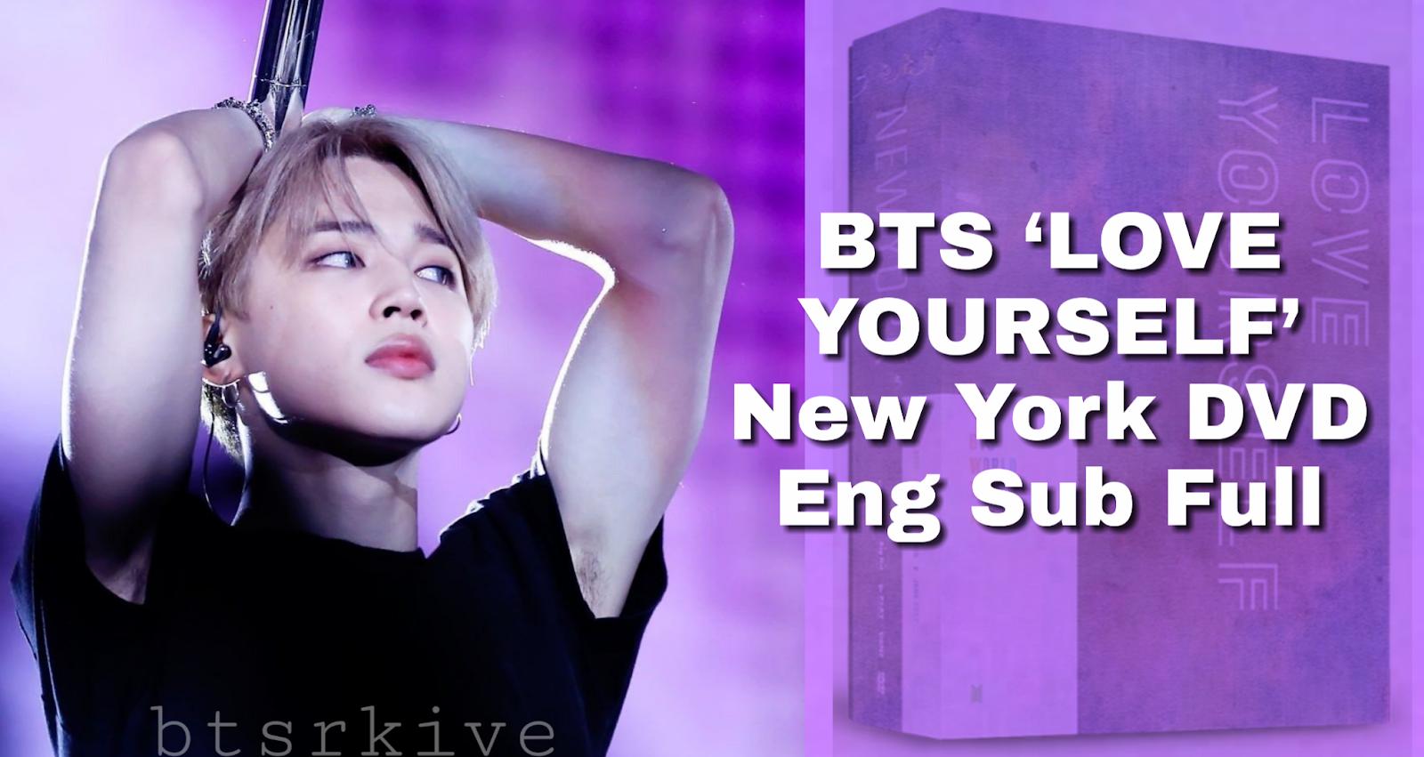 BTS WORLD TOUR 'LOVE YOURSELF' New York DVD Eng Sub Full