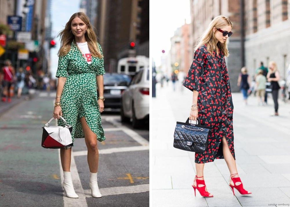 Ankle Booties and skirt or midi dress