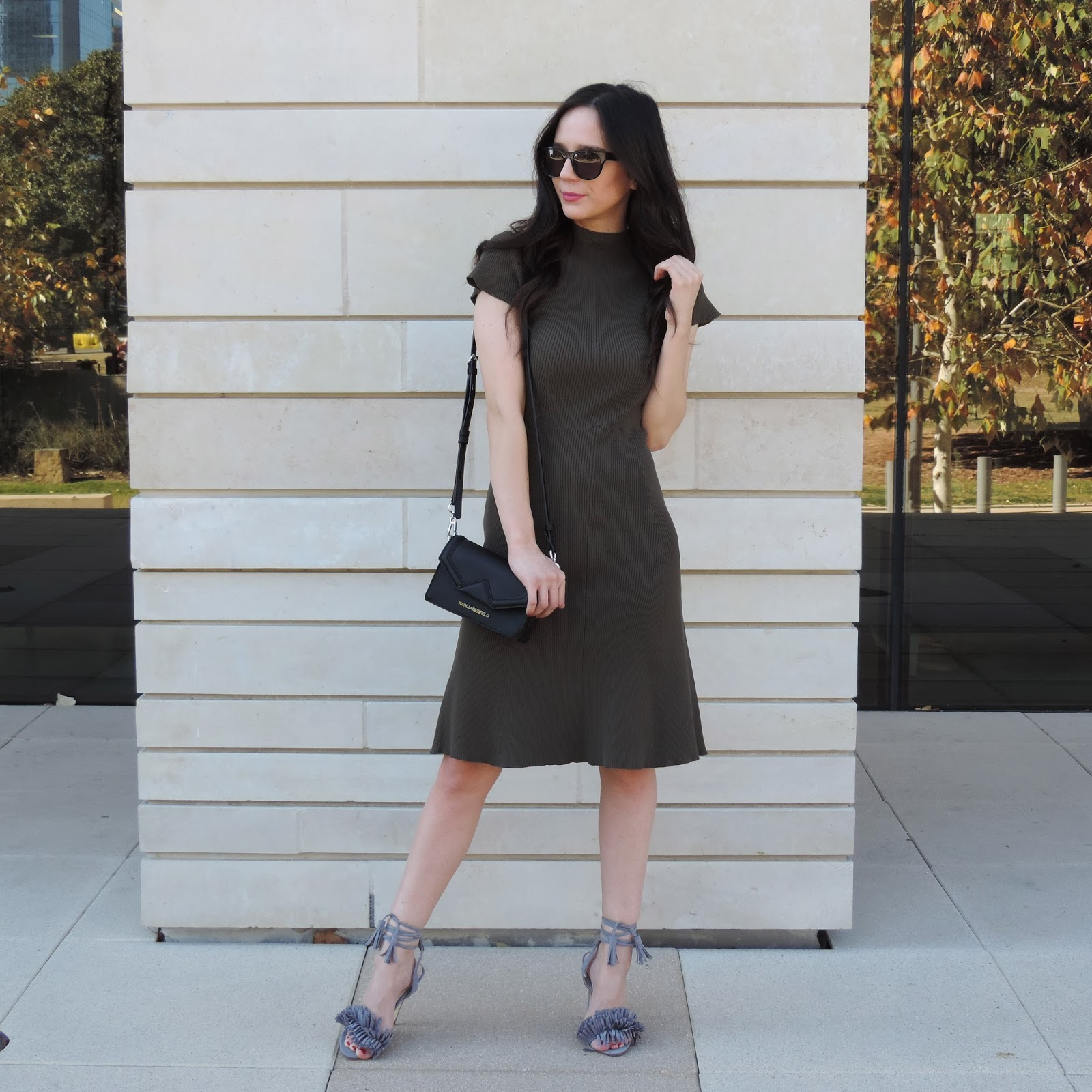 Rib Sweater Midi Dress-Who What Wear