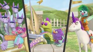 Abby's Flying Fairy School Puckish Pete's Petting Zoo Play Along, Abby Cadabby Blögg Gonnigan, Hydra, Kraken, unicorn, Sesame Street Episode 4419 Judy and the Beast season 44
