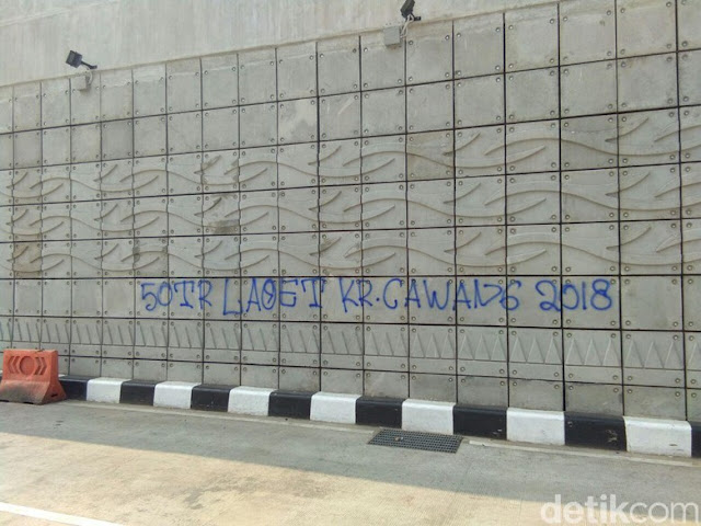 Polisi Amankan Pelaku Vandalisme Underpass Mampang