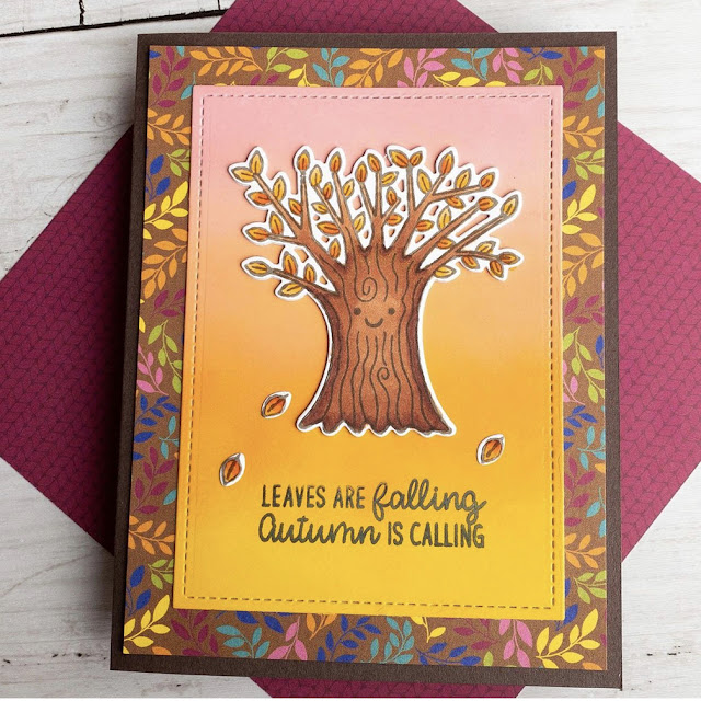 Sunny Studio Stamps: Happy Harvest Customer Card by Jen Mathis