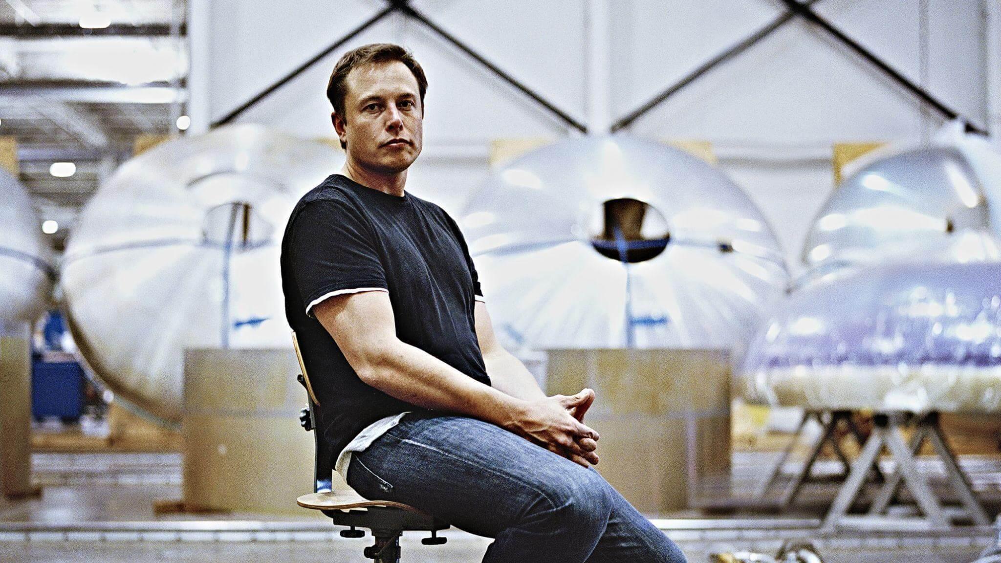 Elon Musk side look