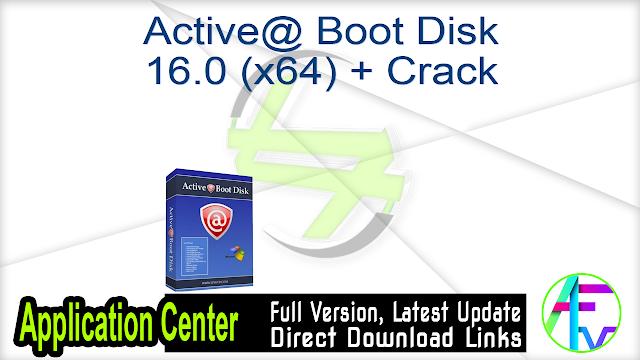 Active@ Boot Disk 16.0 (x64) + Crack