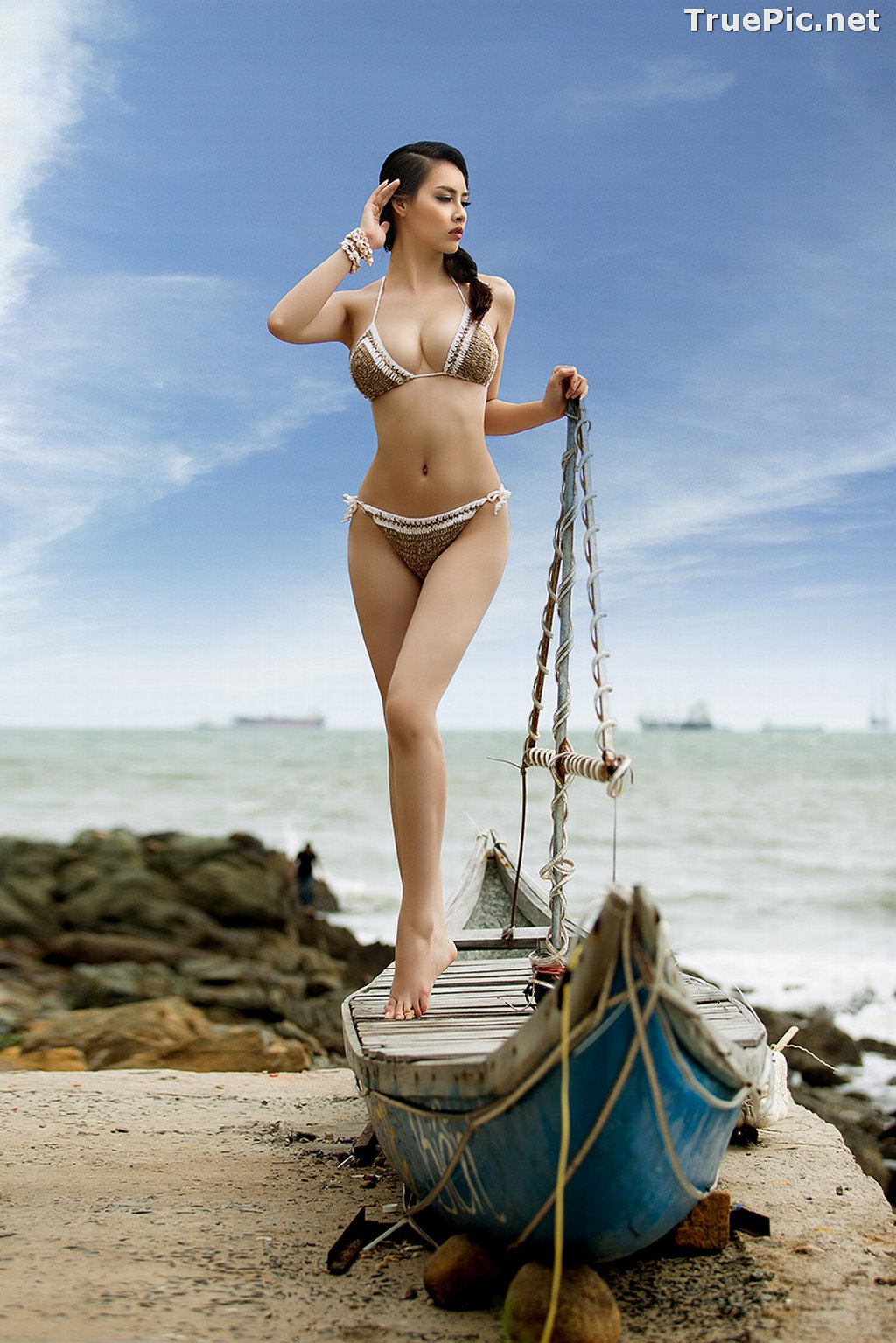 Image Vietnamese Hot Model - Thuy Trang - Wool Bikini Collection - TruePic.net - Picture-3