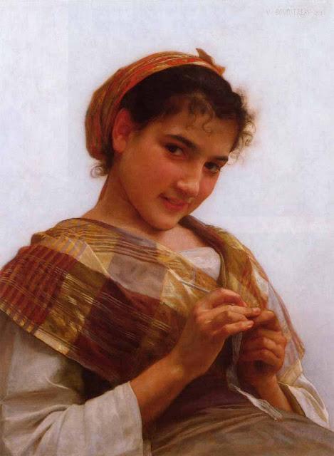 Адольф Вильям Бугро - Юная девушка с крючком (1889)