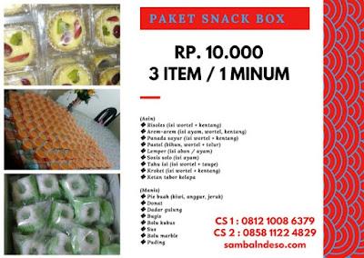 harga snack box sederhana Bintaro kota Tangerang Selatan