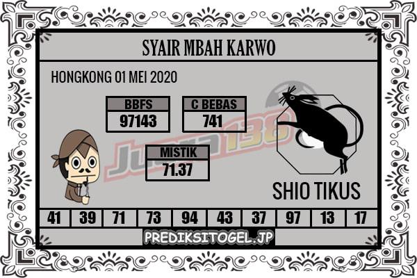 Prediksi HK 01 Mei 2020 - Mbah Karwo HK