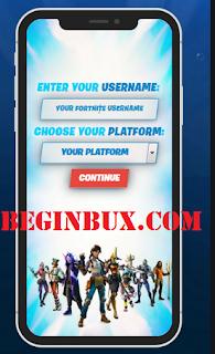 Beginbux.com free vbucks fortnite