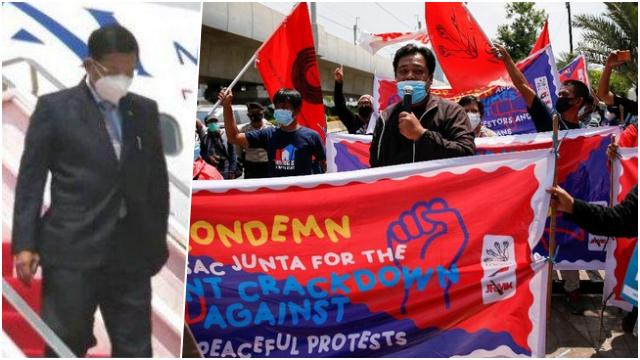 Tiba di Indonesia, Panglima Militer Myanmar Min Aung Hlaing Didemo