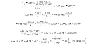 Titration math