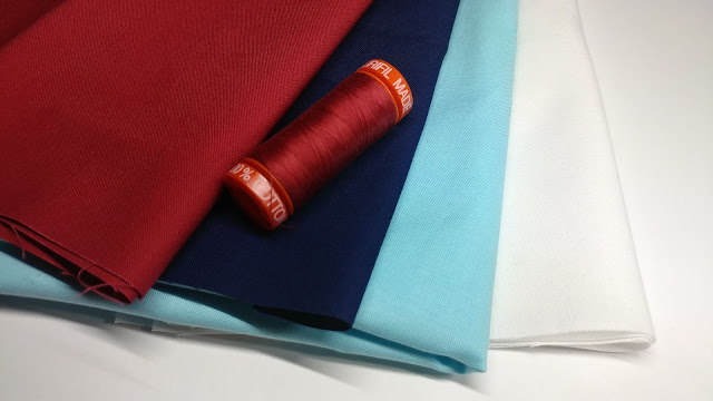 Kona solids and Aurifil thread