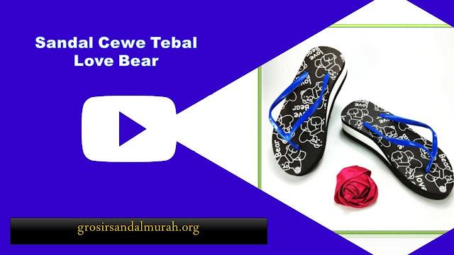 grosirsandalmurah.org - Wedges - AB Cewe Tebal Love Bear