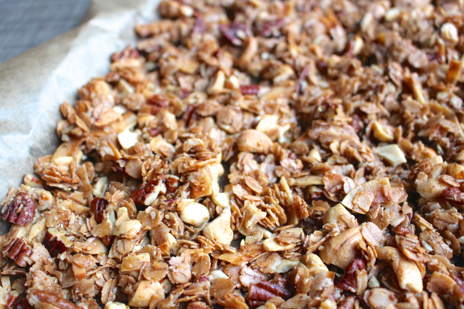 Chunky nutty coconut granola