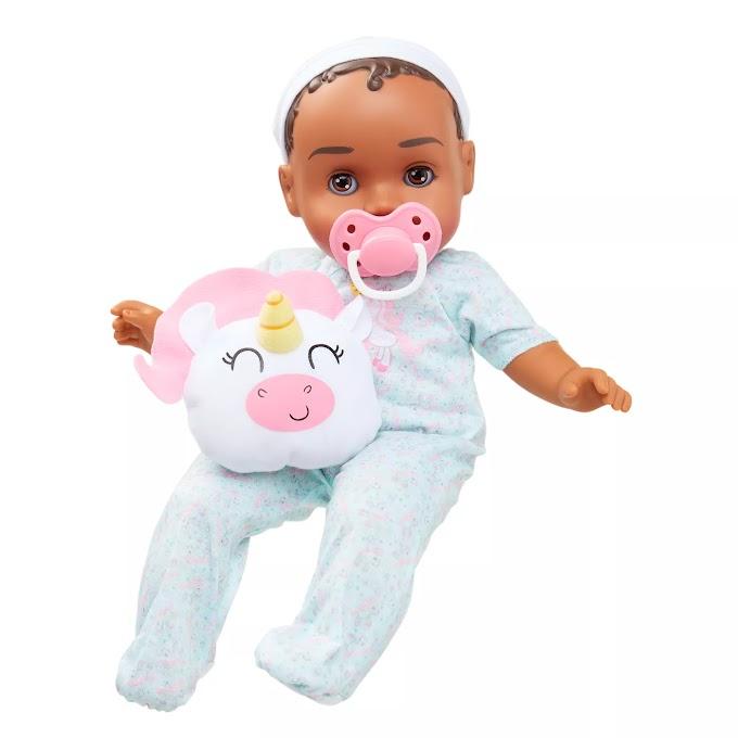 """TARGET - (50% off) 14"""" Baby Girl Doll - Dark Brown Hair"""