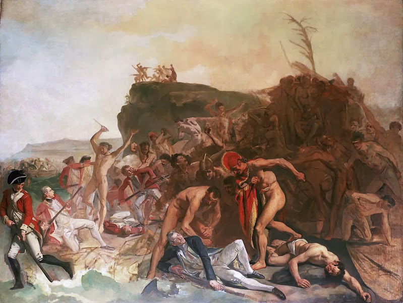 The Death of Captain James Cook, 14 February 1779 by Johann Zoffany, 1795