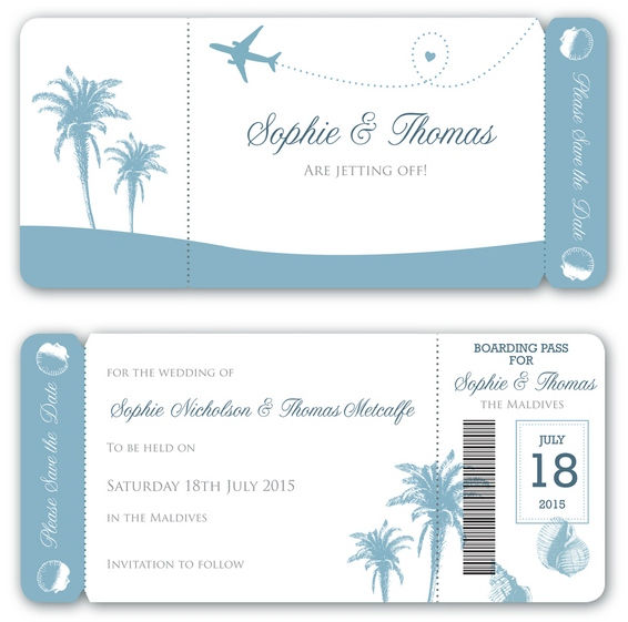 Destination to Love, Save the Date Card by Paper Themes