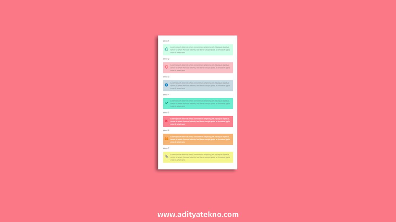 Cara Membuat Kotak Catatan dan Keterangan di Postingan Blog
