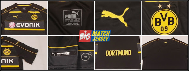 Detail Jersey Borrusia Dortmund Away 16-17 Grade Ori Thailand